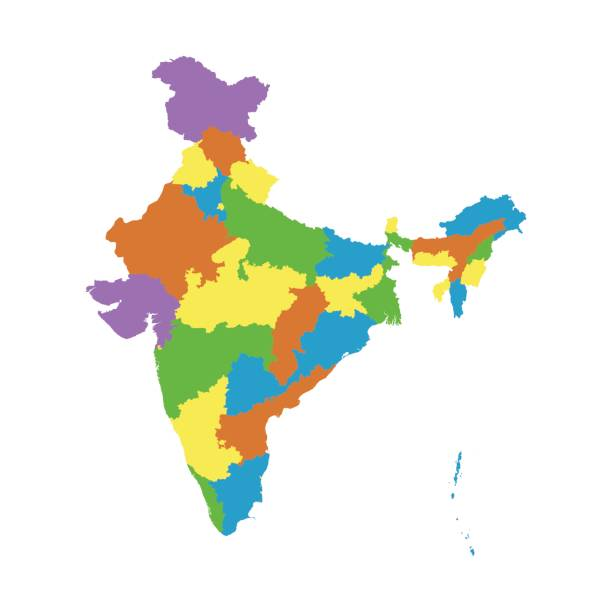 Royalty Free India Map Outline White Background Clip Art, Vector ...