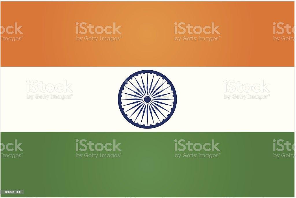 india or indian flag vector art illustration