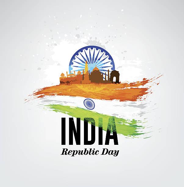 india republic day celebration on january 26. - independence day stock illustrations