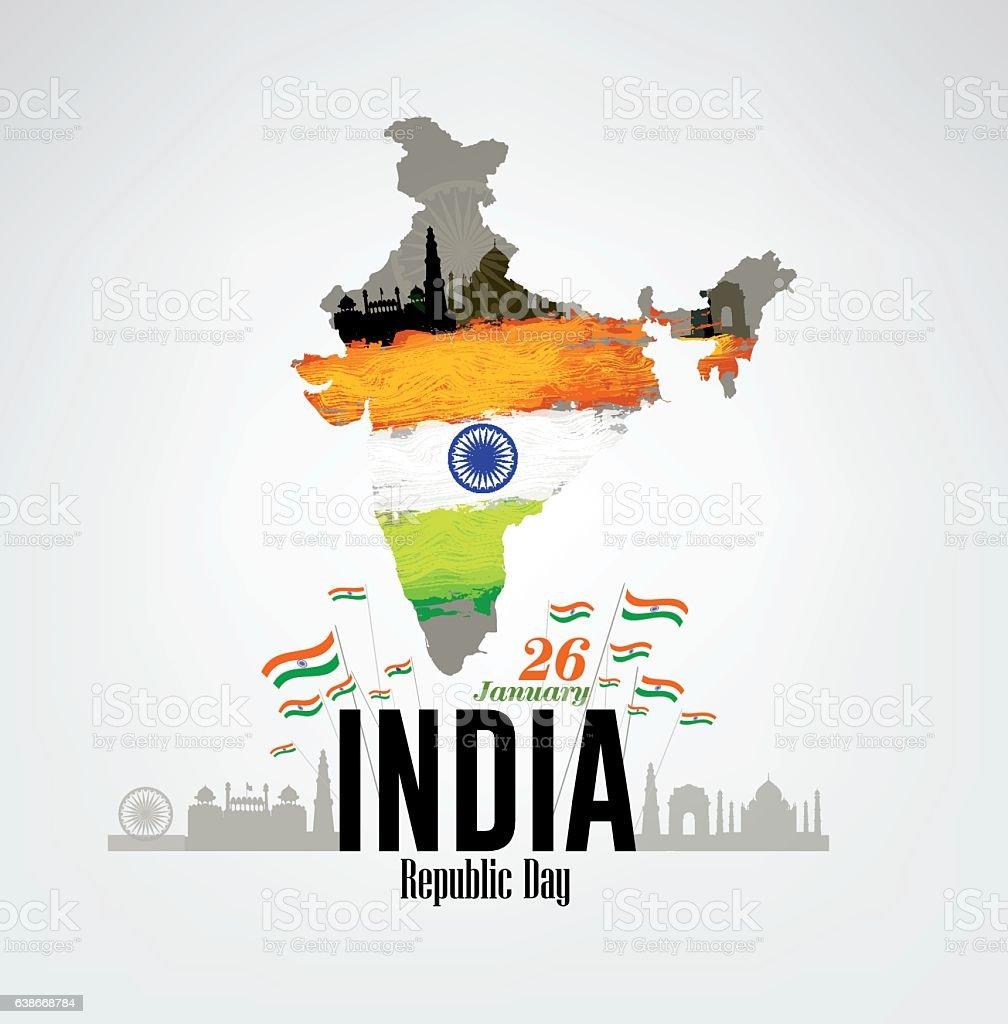 India Republic Day Celebration on January 26 vector art illustration