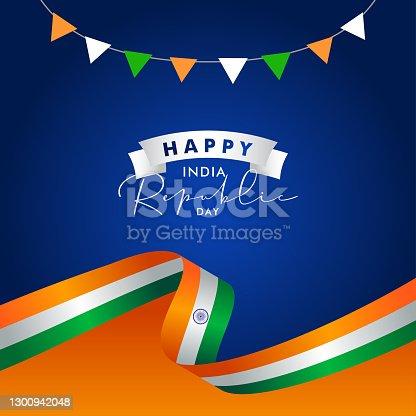 istock India Republic Day Vector Design Template Background 1300942048