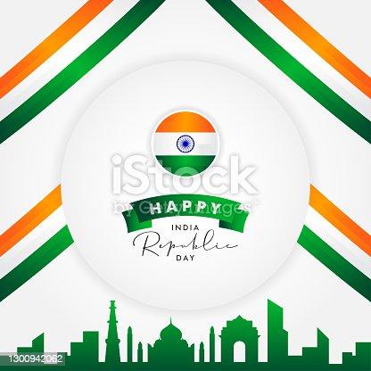 istock India Republic Day Vector Design Template Background 1300942062