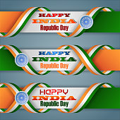 India, Republic day, web banners