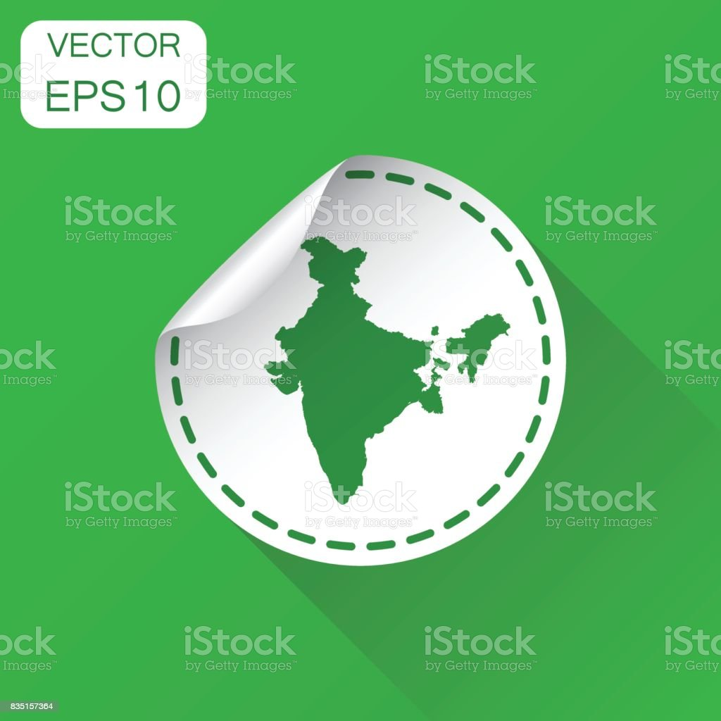 India sticker map icon business concept india label pictogram vector india sticker map icon business concept india label pictogram vector illustration on green background gumiabroncs Images