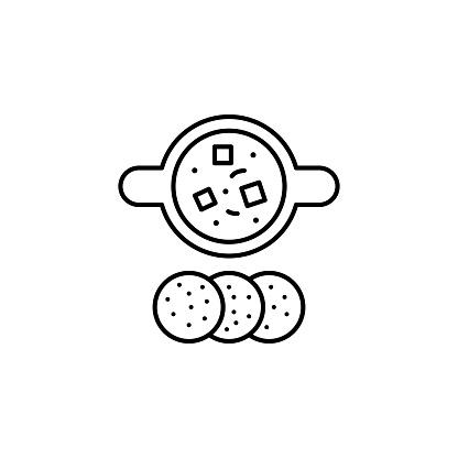 India, tikka masala icon. Element of India culture icon. Thin line icon for website design and development, app development. Premium icon