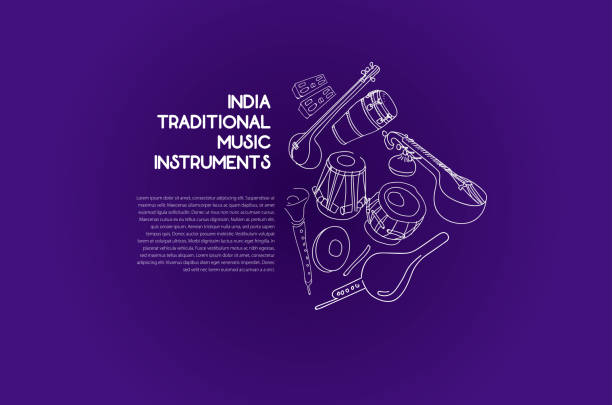 India Traditional Music Instruments India Traditional Music Instruments tavla stock illustrations