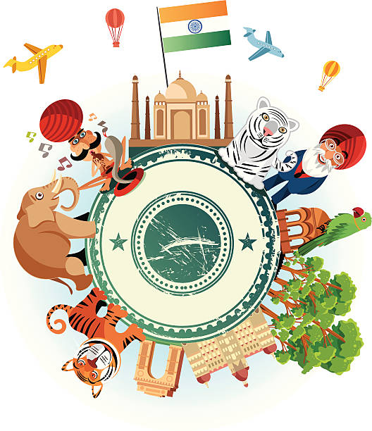 india travel comic - varanasi stock-grafiken, -clipart, -cartoons und -symbole