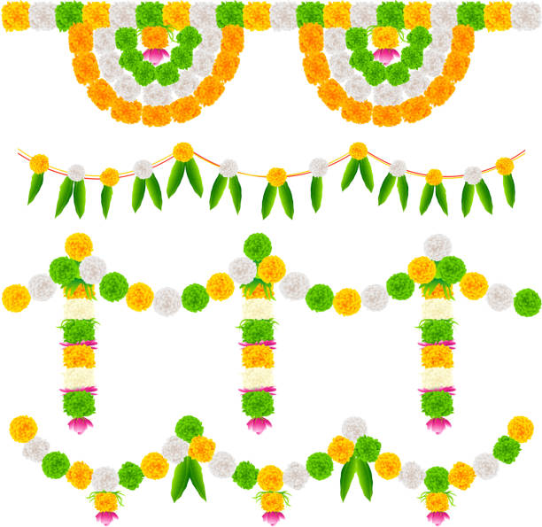 Royalty free hindu wedding clip art vector images illustrations india tricolor flower decoration vector art illustration junglespirit Choice Image
