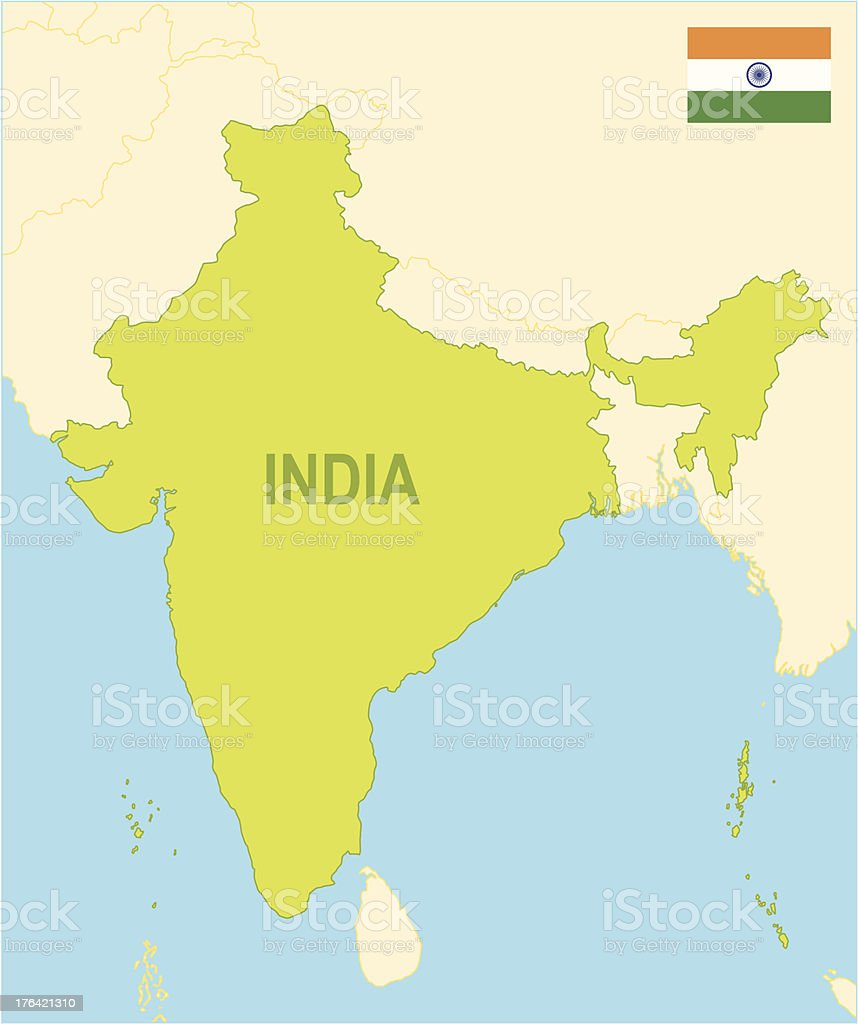 India royalty-free stock vector art