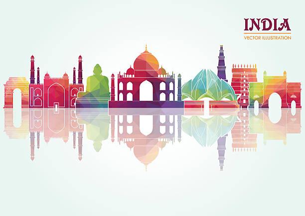 stockillustraties, clipart, cartoons en iconen met india. vector illustration - monument