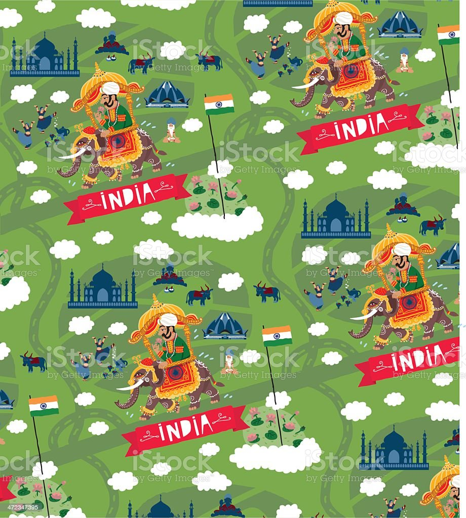 India vector pattern royalty-free stock vector art