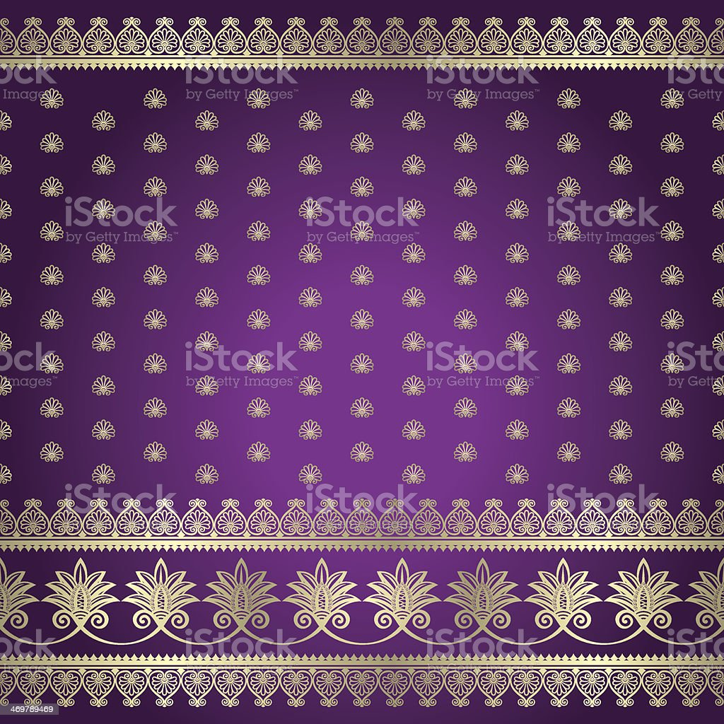 Indian baskground pattern vector art illustration