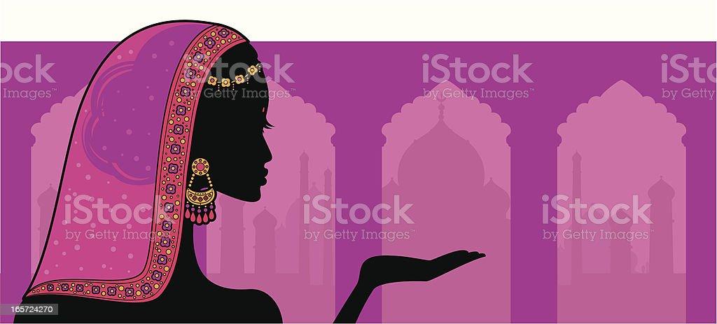 Indian Beauty vector art illustration