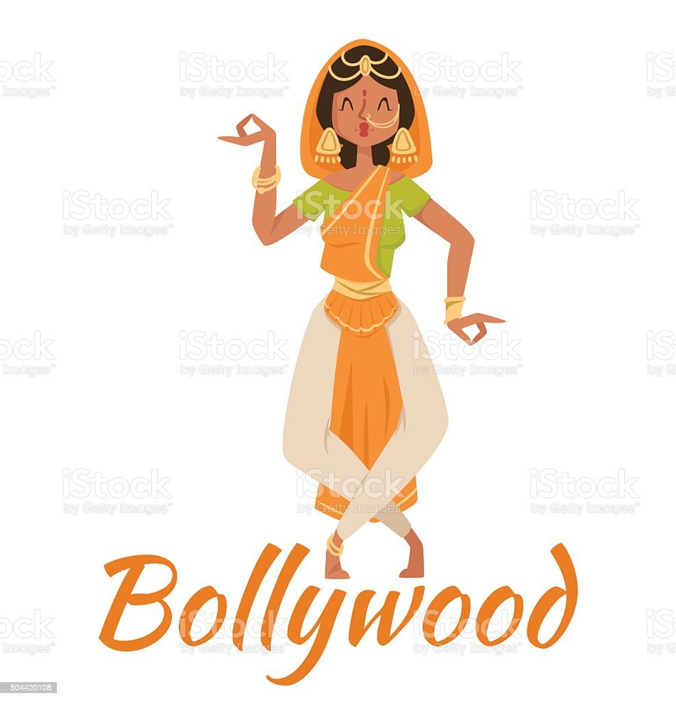 Indian Bollywood Couple Dancing Vector Stock Illustration Download Image Now Istock