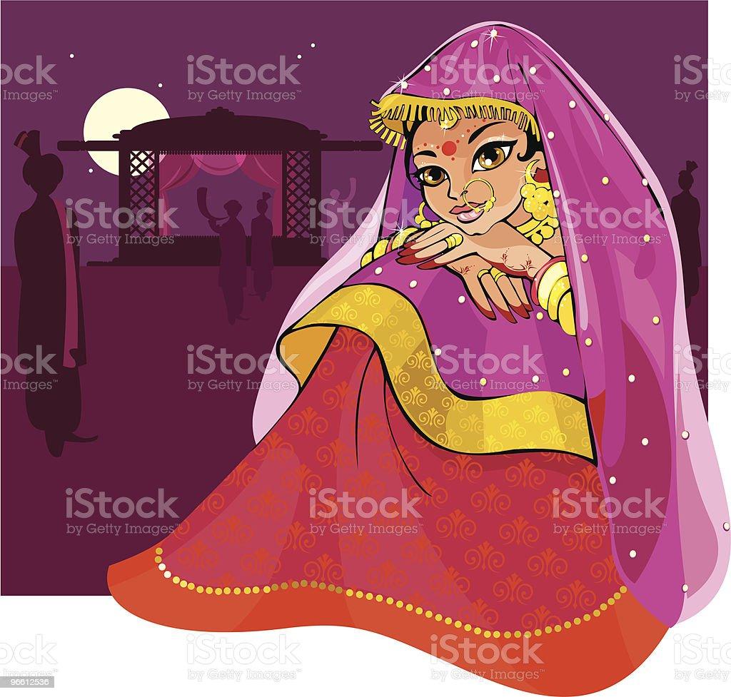 Indian sposa - arte vettoriale royalty-free di Matrimonio