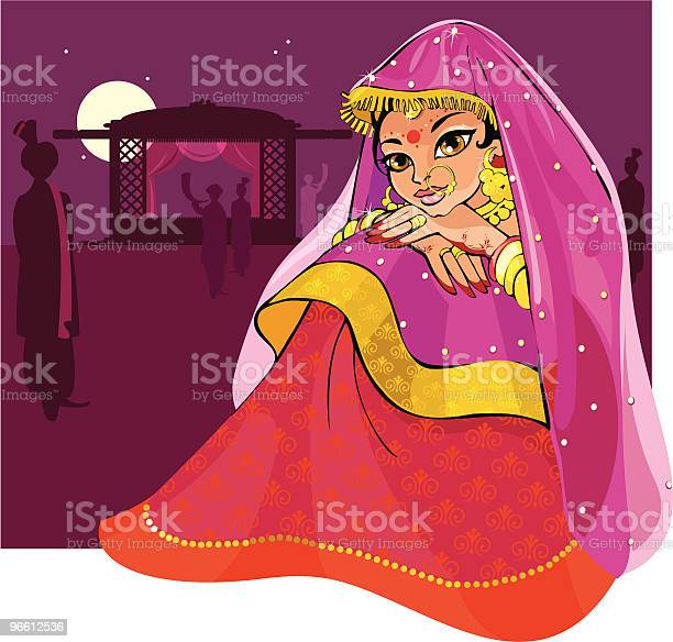 Indian Sposa - Immagini vettoriali stock e altre immagini di Matrimonio
