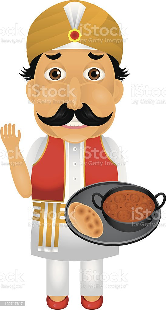 Indian chef character stock vector art 122717317 istock for Art of indian cuisine