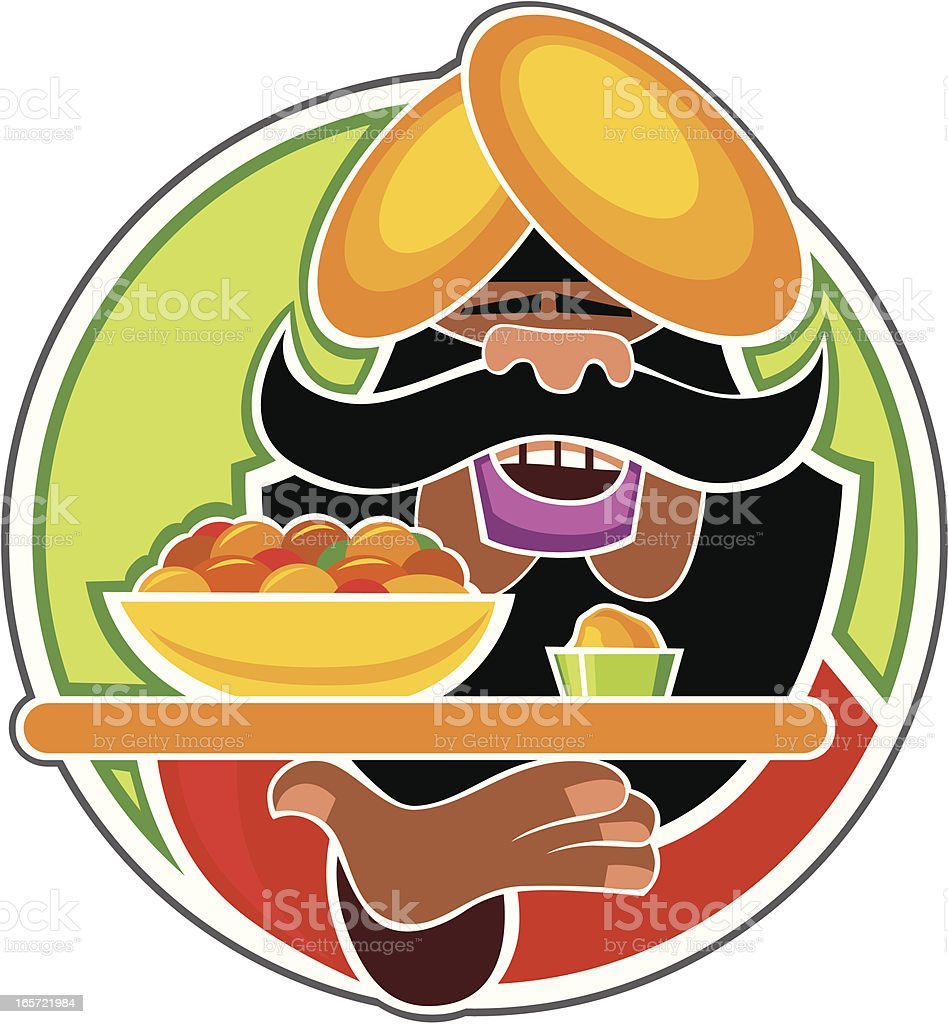 Indian chef royalty-free stock vector art