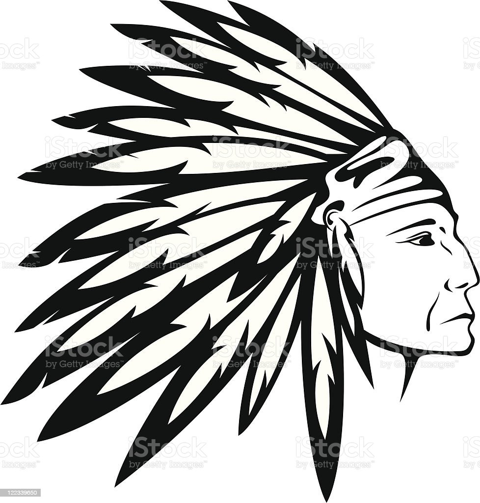 Indian Chief vector art illustration