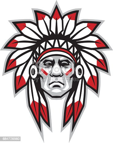 vector of indian chief head