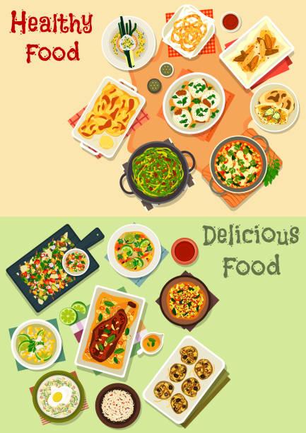 Icono de la cocina India para diseño de menú de cena - ilustración de arte vectorial