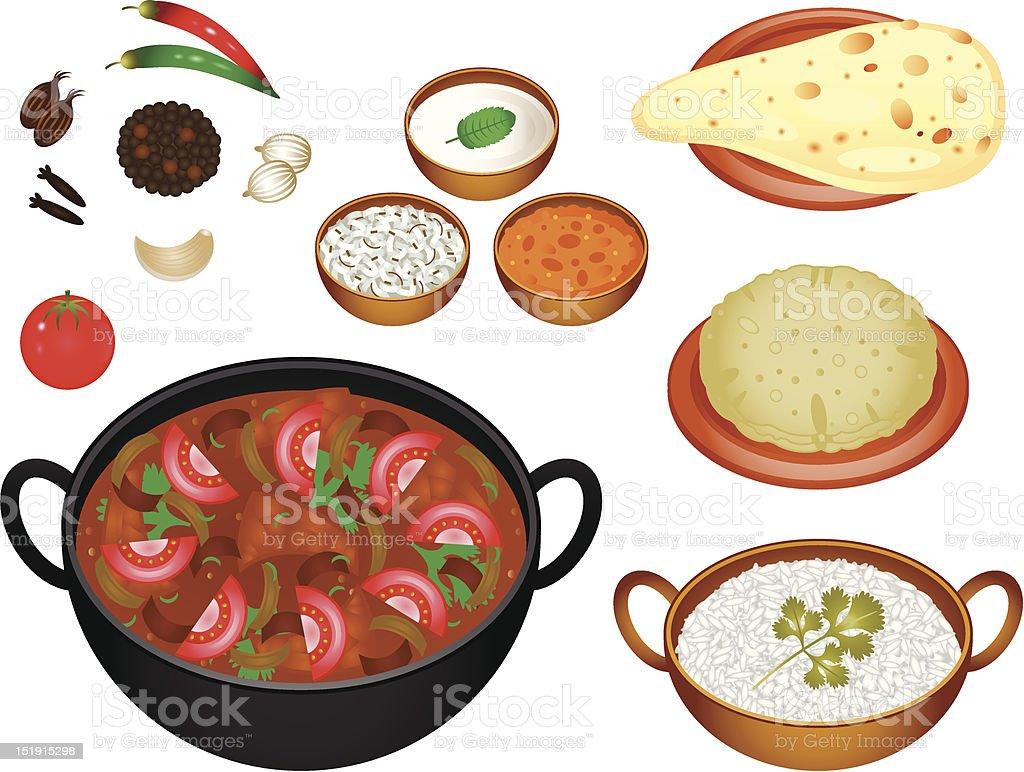 Indian Cuisine Rogan Josh royalty-free indian cuisine rogan josh stock vector art & more images of asian and indian ethnicities