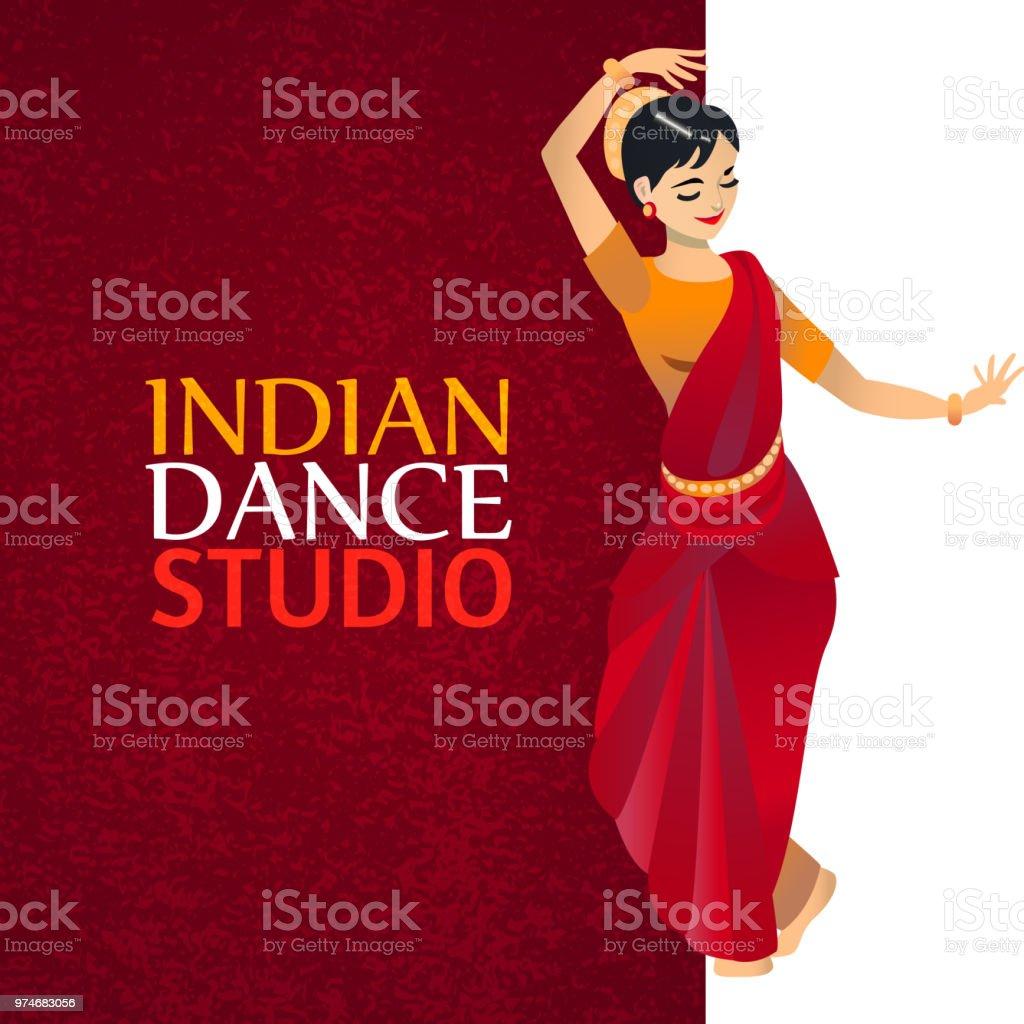 Indian Dance Studio Template Stock Illustration - Download