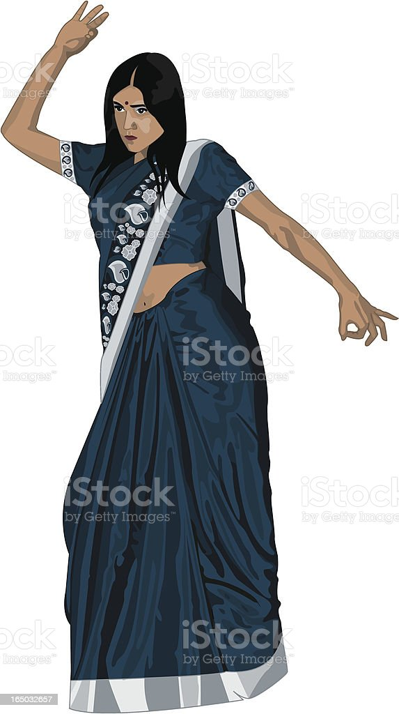 Indian Dance royalty-free stock vector art