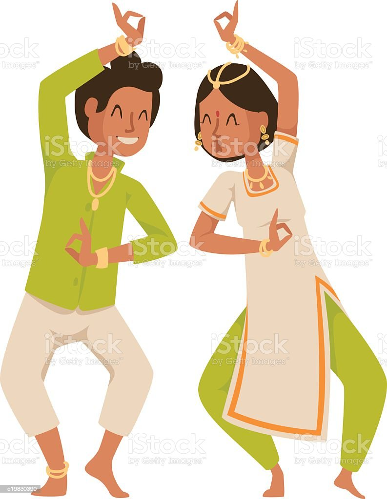 Indian dancer bollywood traditional party culture vector vector art illustration