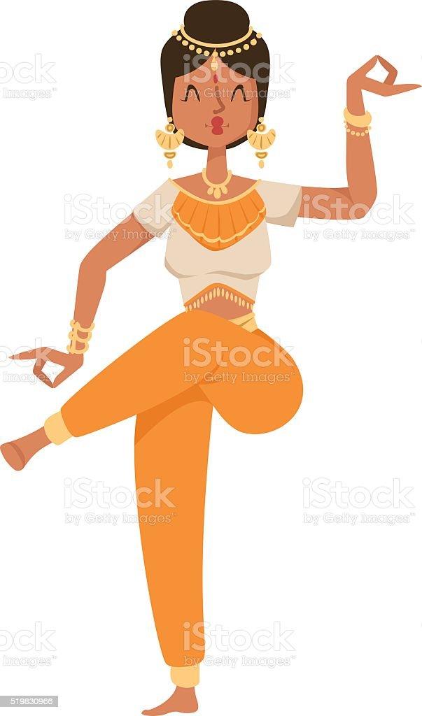 Indische Tänzer Bollywood Traditionelle Kultur Vektorparty Stock ...