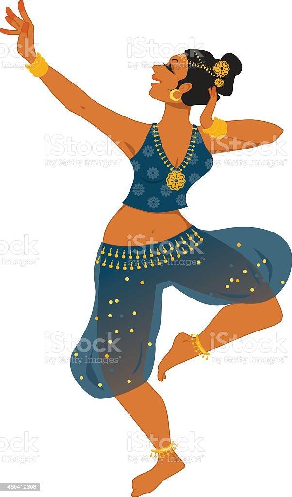 Indian dancer vector art illustration
