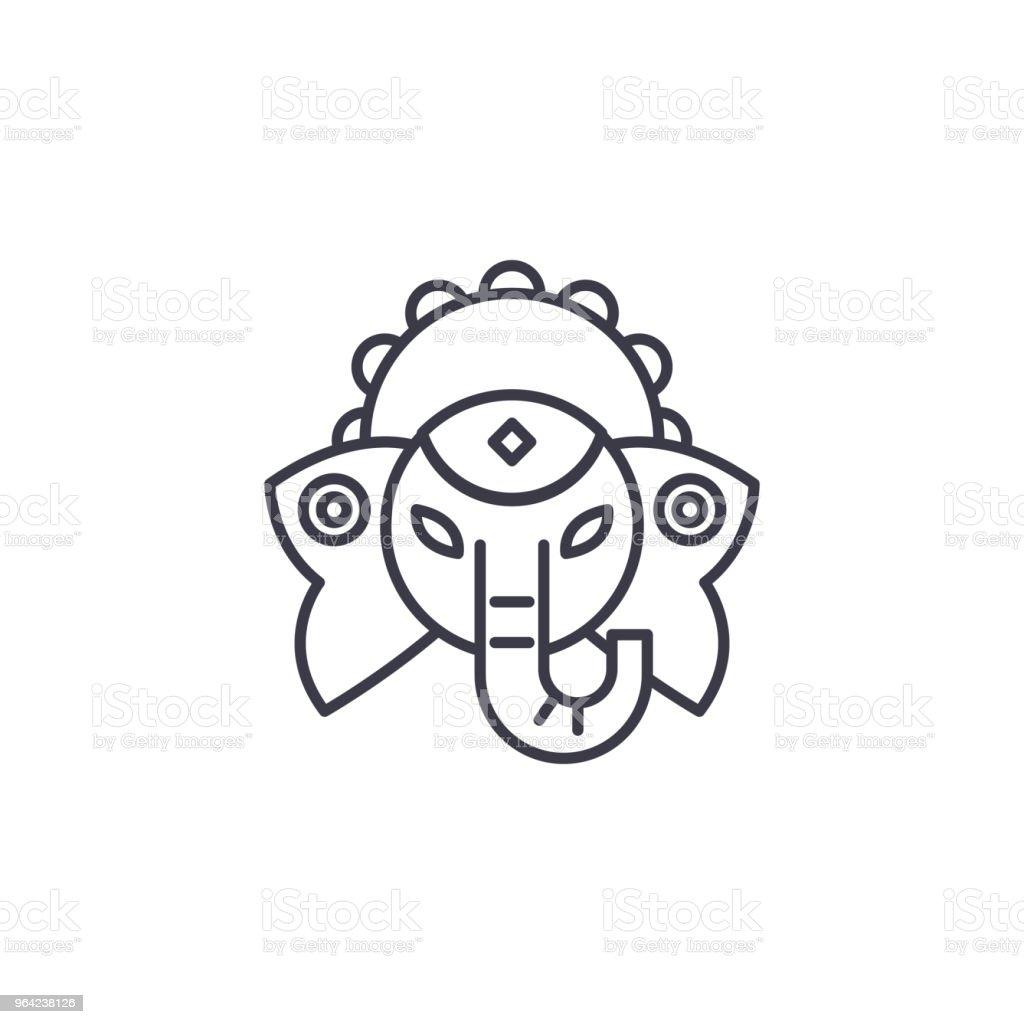 Indische Gottheit Lineare Symbol Konzept Indische Gottheit Linie