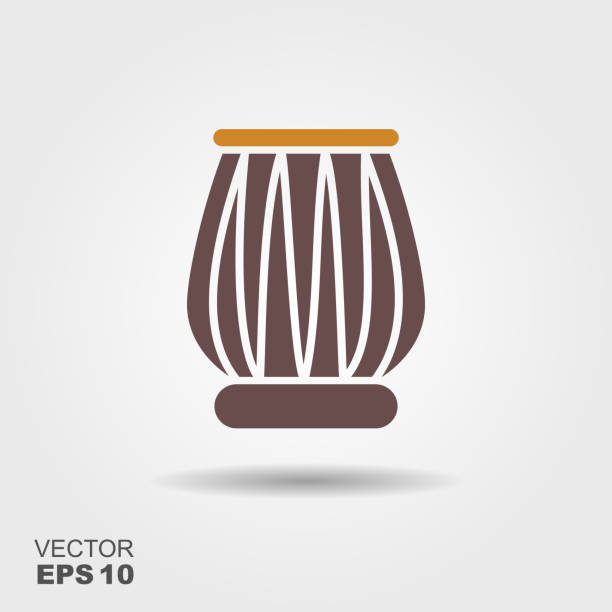 Indian drums tabla icon Indian drums tabla isolated on gray background tavla stock illustrations