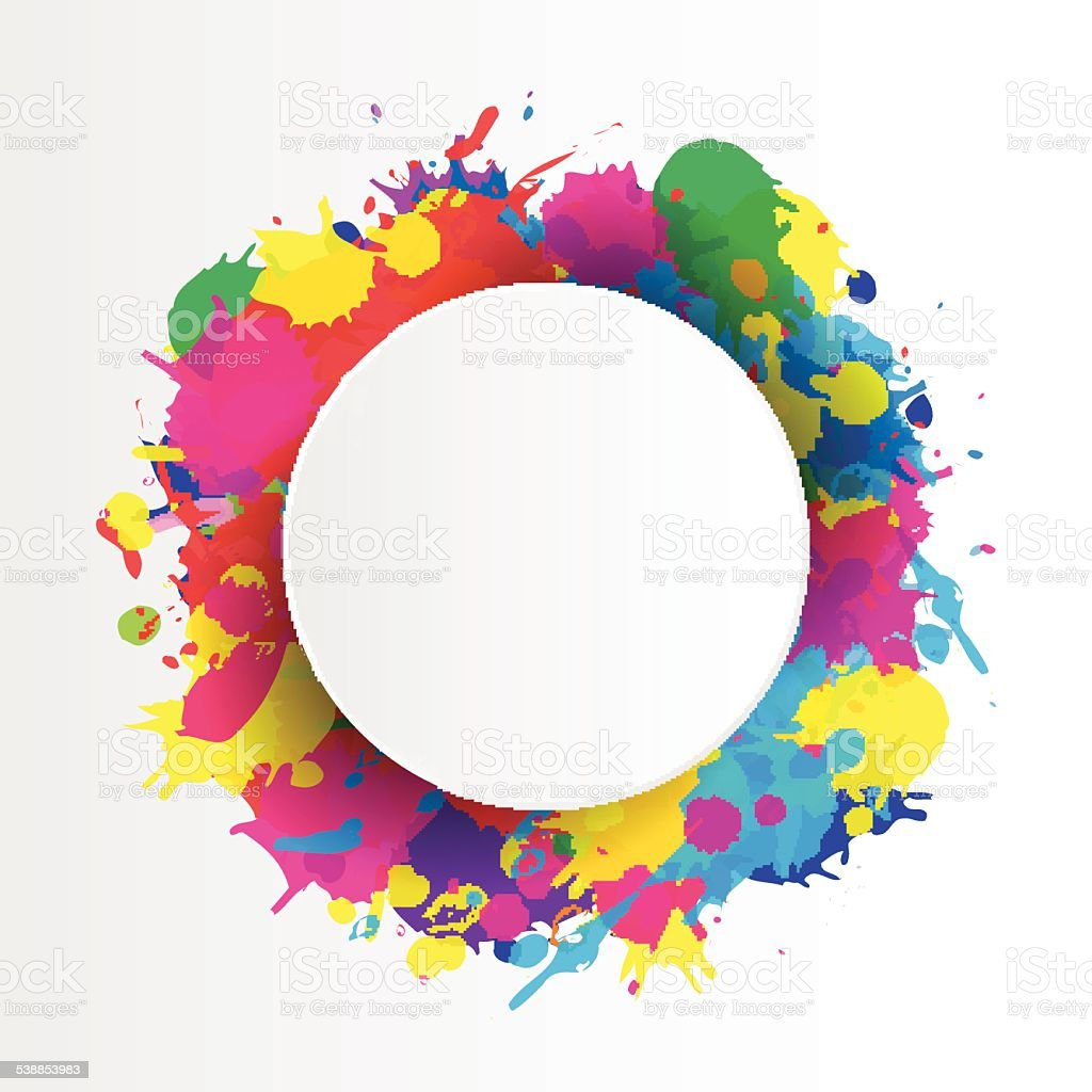 indian festival background with colors splash stock vector