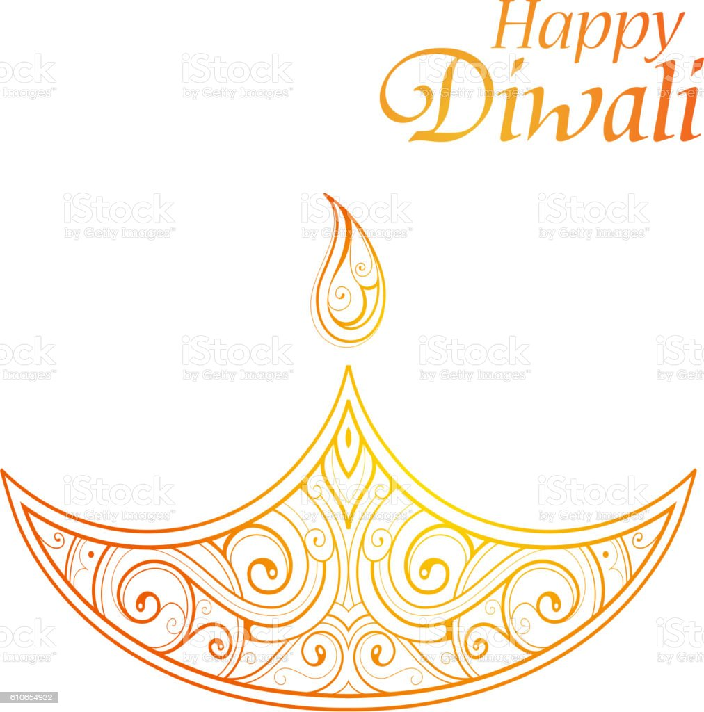 Indian Festival Diwali Greeting Card Design Stock Vector Art More