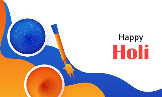 Indian festival, Holi celebration. stock illustration