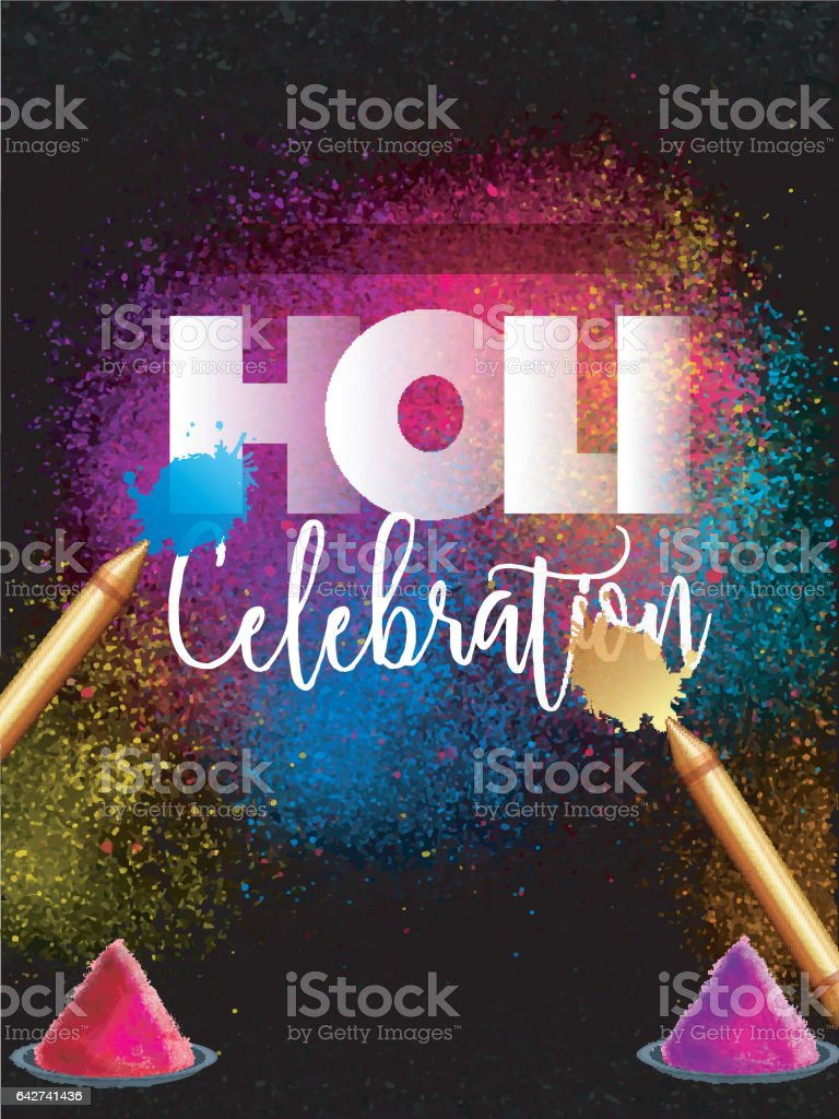 Indian Festival Holi Party Celebration Template Banner Flyer
