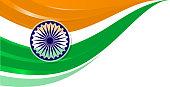 indian flag independence day corner design