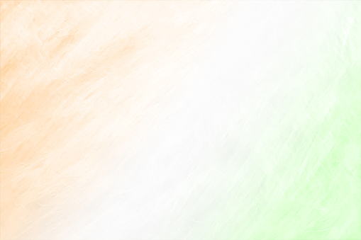 Indian flag colours- Tricolor - Horizontal vector backgrounds of three very light pastel shades of saffron, white and green blending