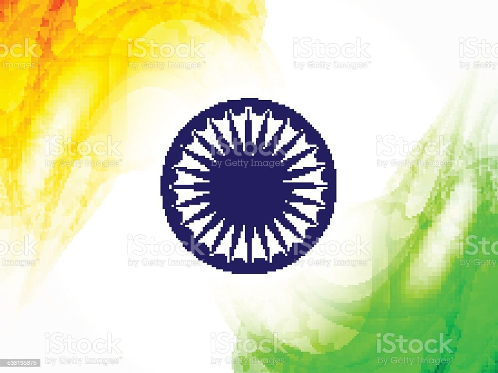 Indian Flag design vector art illustration