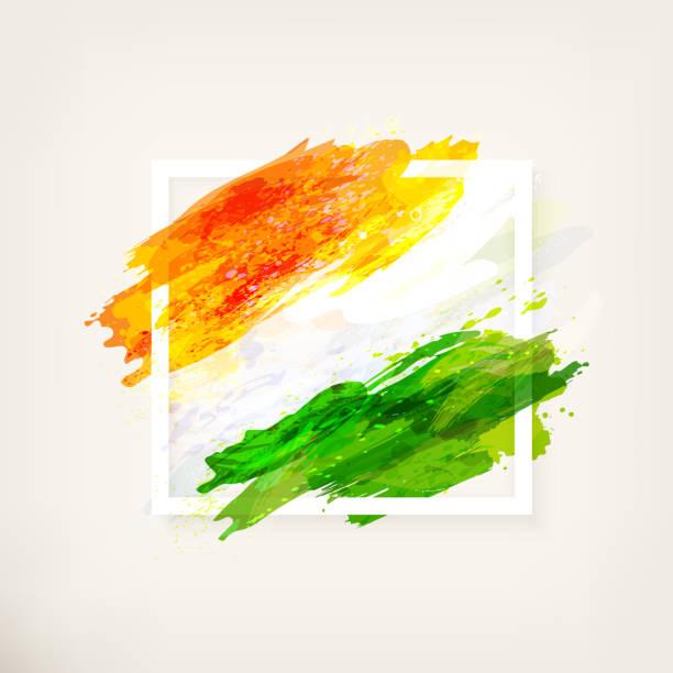 框中印第安國旗 - independence day 幅插畫檔、美工圖案、卡通及圖標