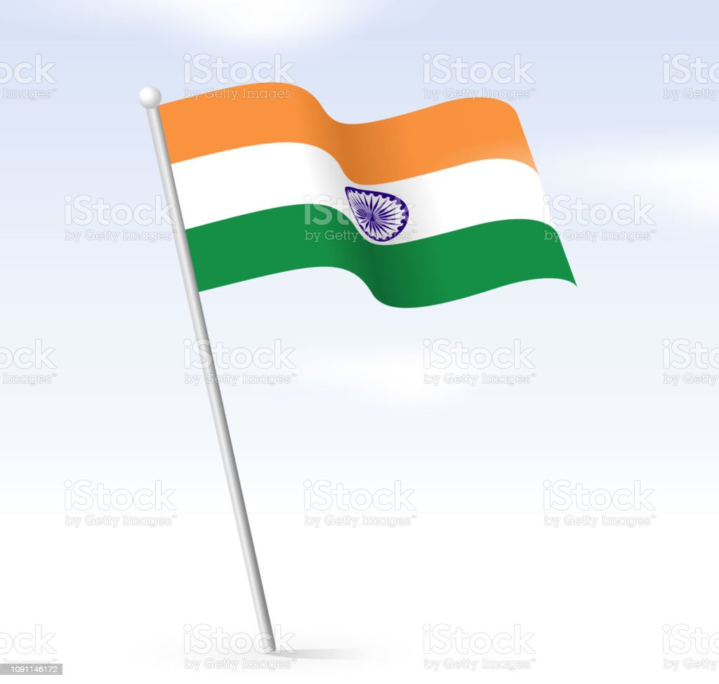 Indian Flag Sky Stock Illustration Download Image Now Istock