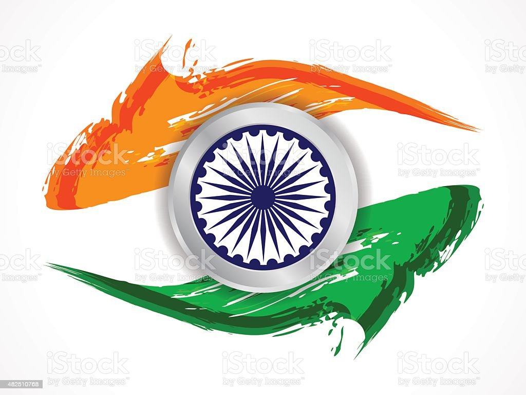 Indian Flag Theme: Indian Flag Theme Design Stock Vector Art & More Images Of