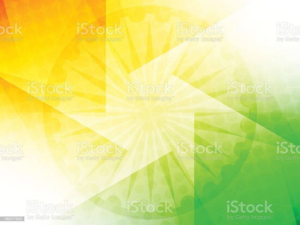 India Flag Theme: Indian Flag Theme Design Stock Vector Art & More Images Of
