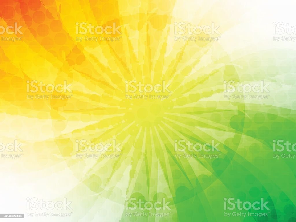 Indian Flag theme design vector art illustration