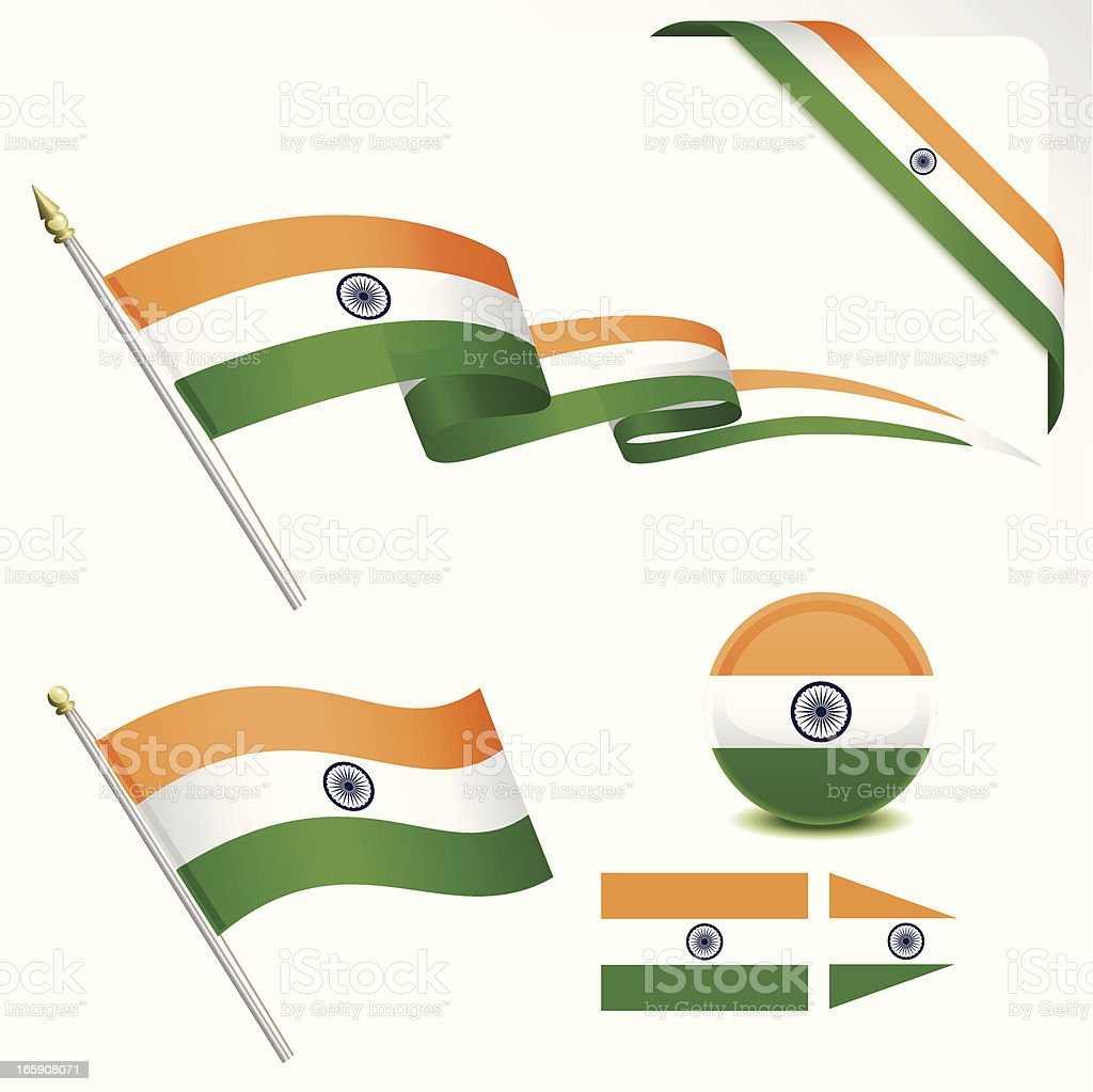 Indian Flag vector art illustration