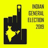 Indian General Election 2019 illustration vector image