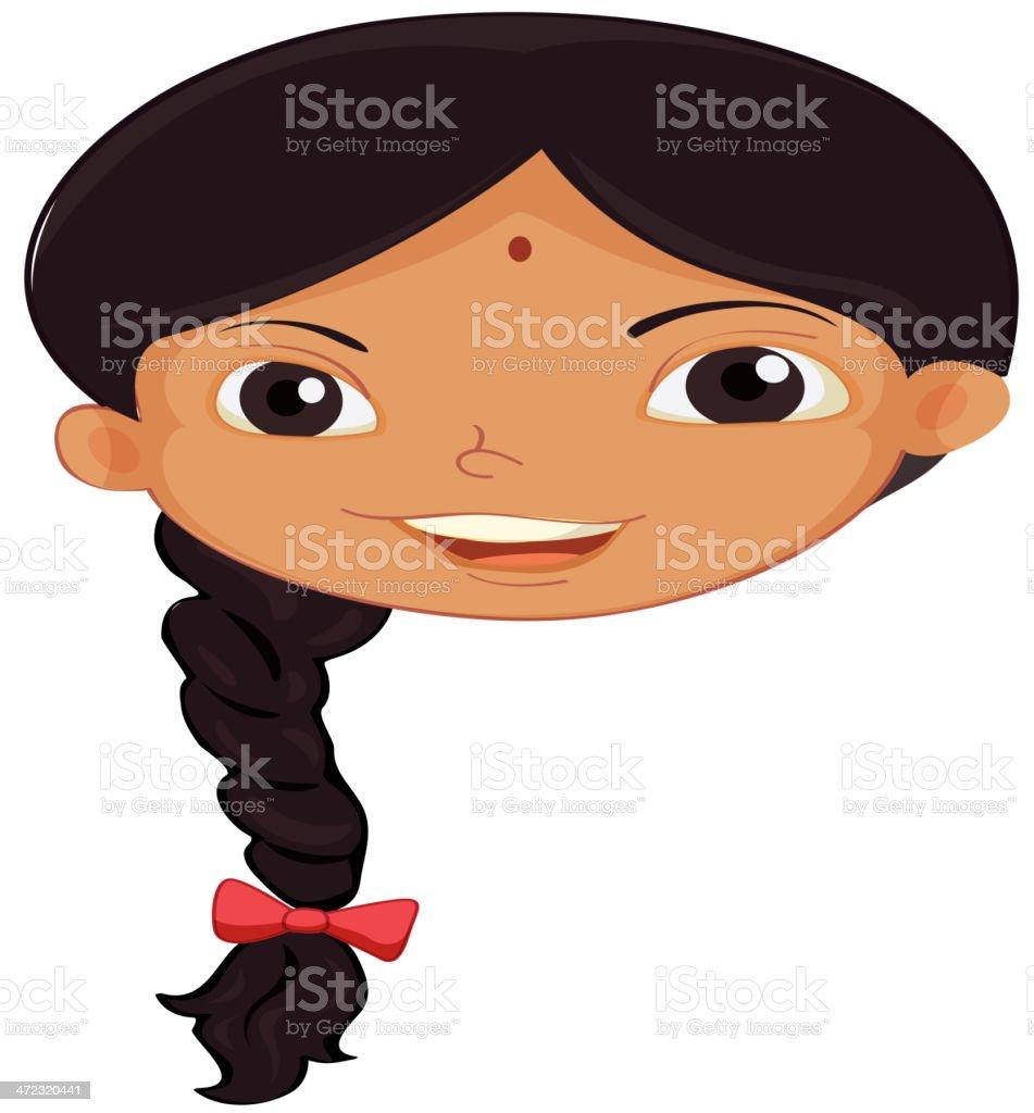 Einzelne indische Mädchen