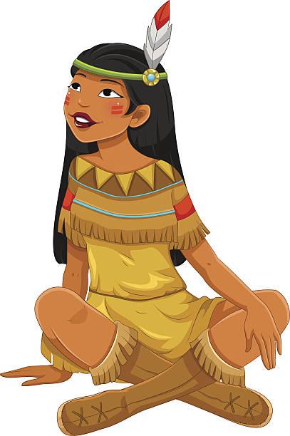 Top 60 Native American Woman Clip Art, Vector Graphics and ...