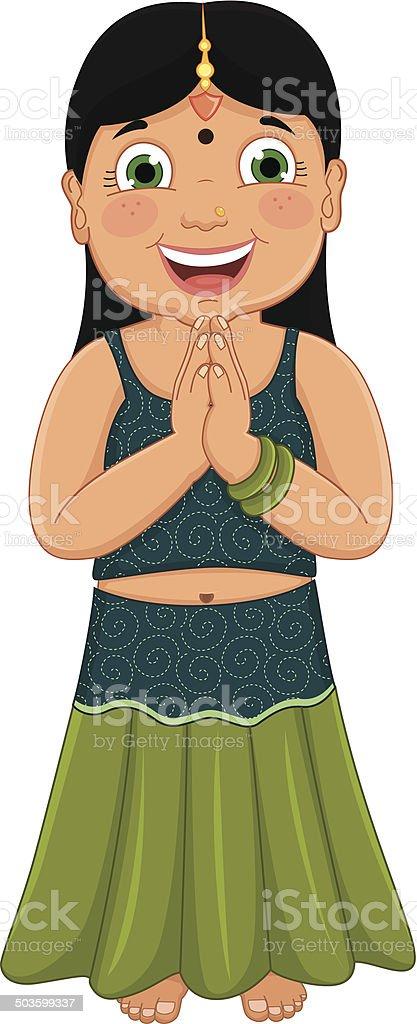 Indian Girl Vector Illustration vector art illustration